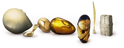 Google Logo: Constantin Brancusi's 135th Birthday. Courtesy of ARS, NY / ADAGP, Paris.
