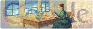 Google Logo: Marie Curie's 144th Birthday