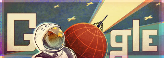 Google Logo: 50th Anniversary of the First Human Spaceflight