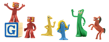 Google Logo: Art Clokey's 90th Birthday, pioneer of stop motion clay animation