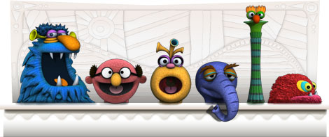 Google Logo: Jim Henson's 75th Birthday - American puppeteer, creator of The Muppets