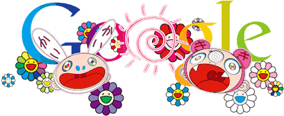 Google Logo: First Day of Summer. Doodle by Takashi Murakami, 2011. (Northern Hemisphere)