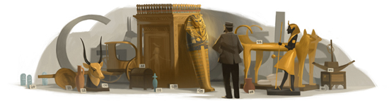 Google Logo: Howard Carter's 138th Birthday - British Archaeologist and Egyptologist