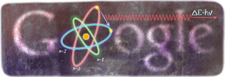 Google Logo: Niels Bohr's 127th Birthday - Danish Physicist
