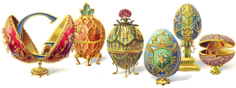 Google Logo: Pierre Carl Fabergé's 166th Birthday - Russian Jeweller