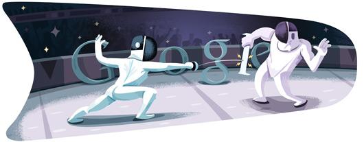 Google Logo: London 2012 : Fencing
