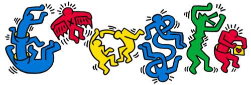 Google Logo: Keith Haring's 54th Birthday, American Artist and Activist