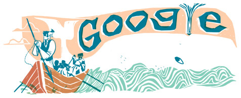 Google Logo: 161st anniversary of Moby-Dick