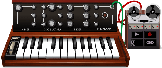 Google Logo: Robert Moog's 78th birthday - Inventor of the Moog synthesizer