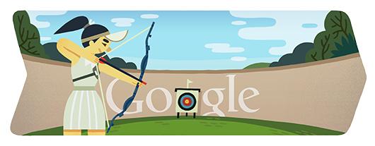 Google Logo: London 2012 : Archery